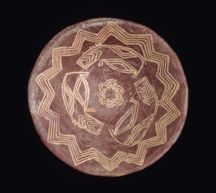 902 Culture Pre-Egyptienne  Pottery bowl with three hippopotami Naqada I period, 3850 - 3650 BC.jpg