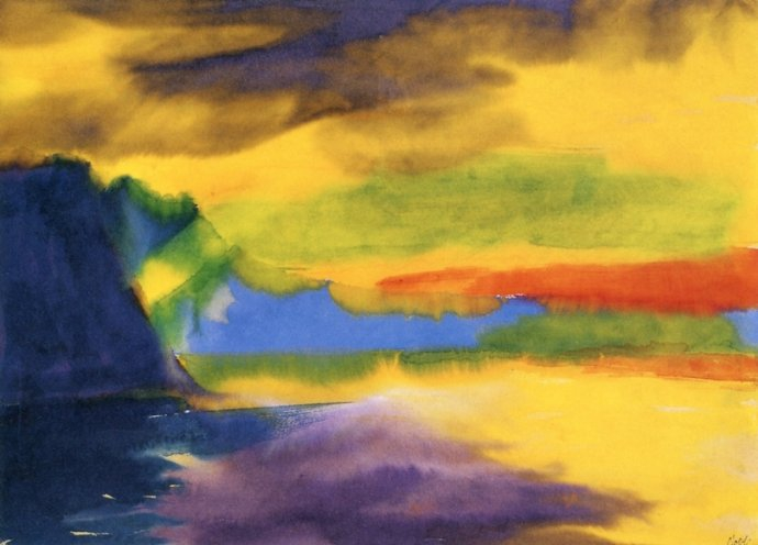 +502 Emil Nolde  Mountain Lake with Cloud Reflection.jpg