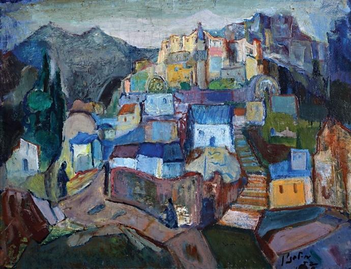 ++Landscape, 1952 - Mordechai Levanon.jpg