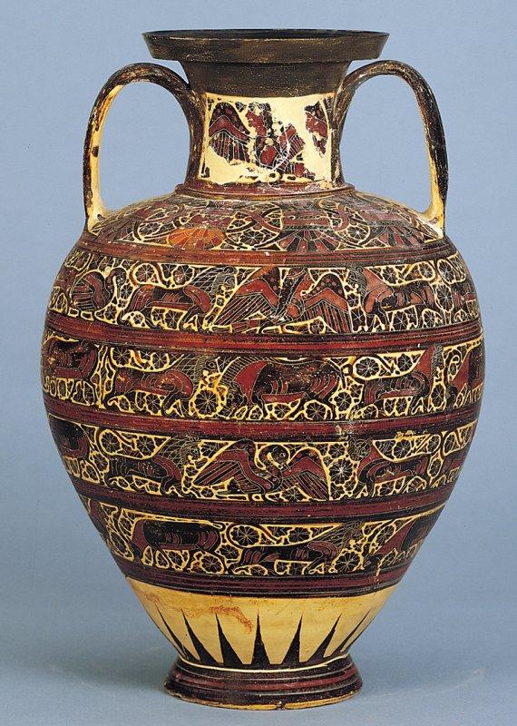 +2659 Corinthian black-figure amphora with animal friezes, from Rhodes, ca. 625-600 B.C..jpg