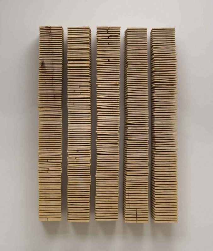 +2472 David Nash, Crack and warp wall panels, 2008.jpg