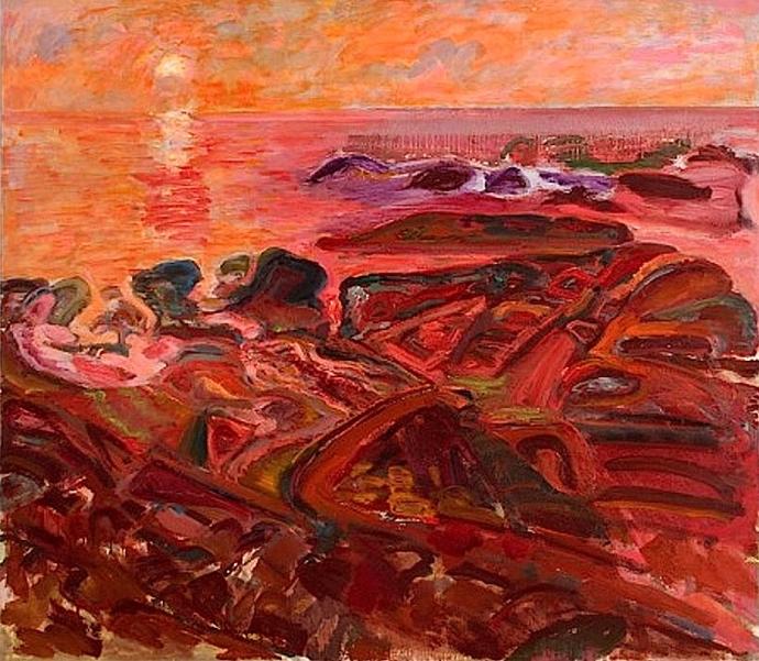 ++++Bernard Chaet - Red Morning, Pigeon Cove, 1980-85.jpg