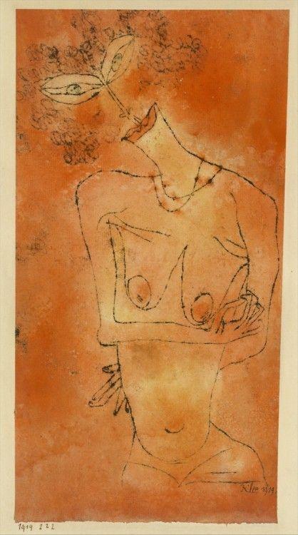 +52Paul Klee   Lady Inclining Her Head, 1919.jpg
