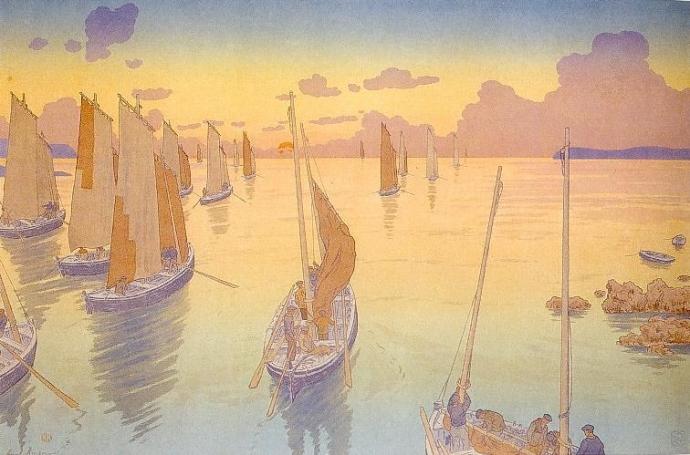 + 2796 Henri Rivière le coucher de soleil.jpg