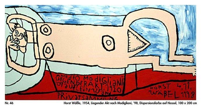 +1079 Horst Waessle Akt nach Modigliani 98  1954.jpg