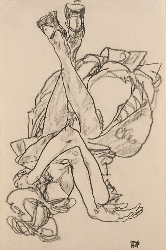 +600b Egon Schiele  Lying girl with crossed arms and legs 1918.jpg