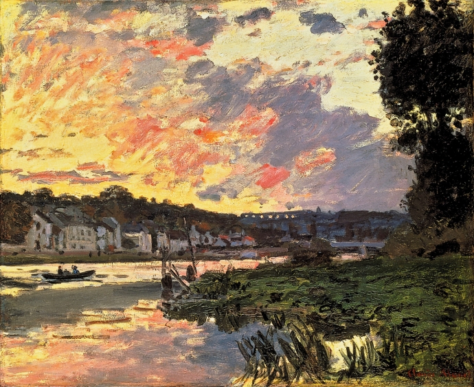 + 2796 The Seine at Bougival in the Evening, Claude Monet.jpg
