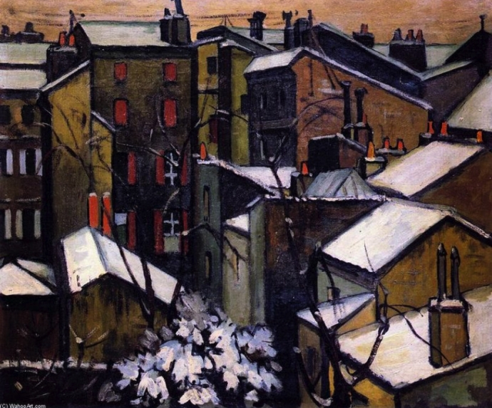 +21André Lhote Roof Tops of Bordeaux in the Snow, 1909.jpg