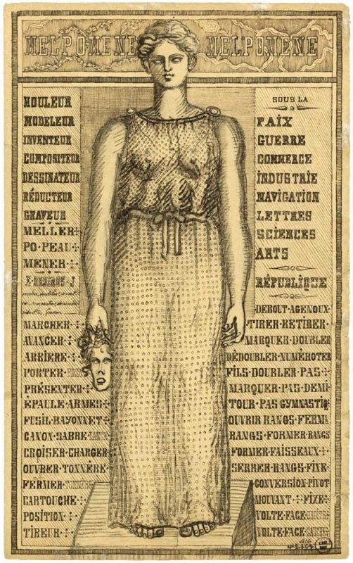 +754 Emile Josome Hodinos  Melpomene, entre 1876 et 1896.jpg