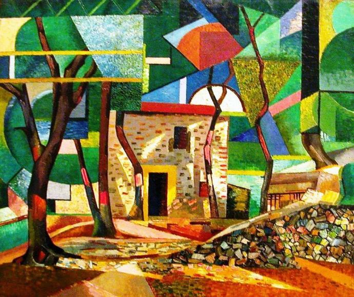 +1741 Auguste Herbin, 1913, paysage de Céret.jpg