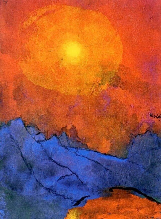++++Emil Nolde Sunset over Blue Mountains  -.jpg
