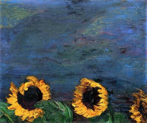 +1705 Emil Nolde - Blue Sky and Sunflowers.jpg