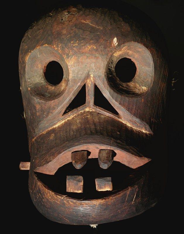 +2621 Polychrome wooden Eskimo mask, Alaskan, 20th century, n.d..jpg