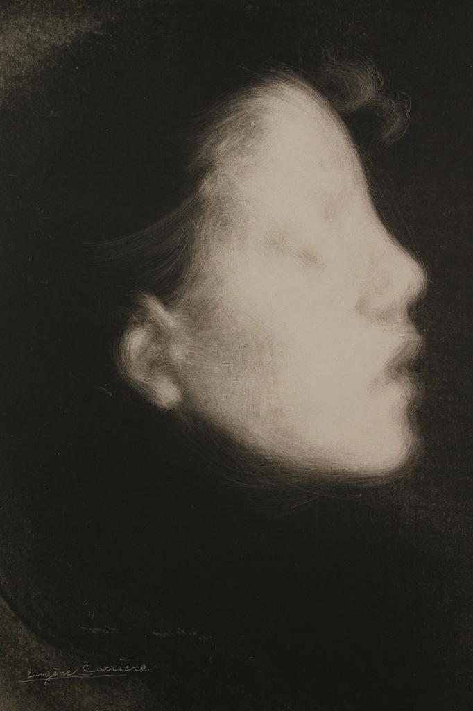 +1426 Eugène Carrière   Tete de Femme, connu aussi sous Nelly Carrière 1895.jpg