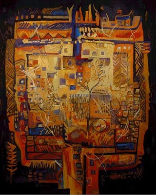 911 Interior Landscapes. Hand-woven tapestry by South African artist, Susqya Williams 2008.jpg
