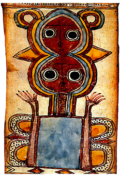 +1694 Ethiopie  A two-headed demon from a magic scroll 18-19 s.png