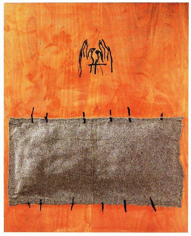 +2110 Antoni Tàpies - Manta encolada(1999).jpg