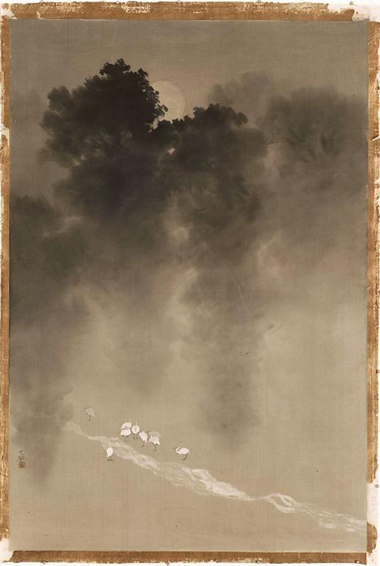 514 Taikan Yokoyama Moonlight in the Woods  1904-1905.png