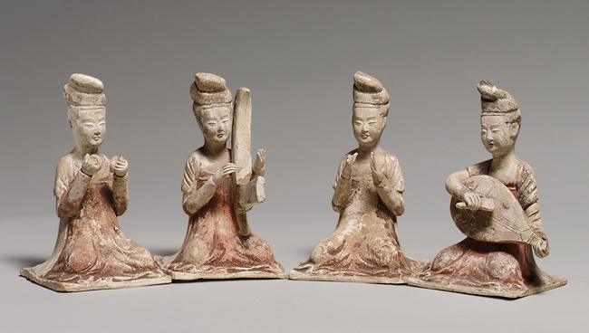 441 Seated Female Musicians, Tang dynasty (618–906), late 7th century Chine.jpg