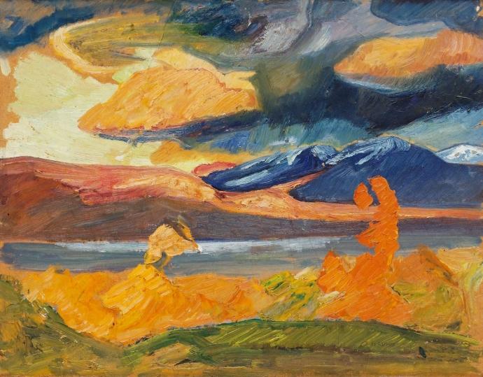 +1776 Helmer Osslund   Autumn painting from Abisko.jpg