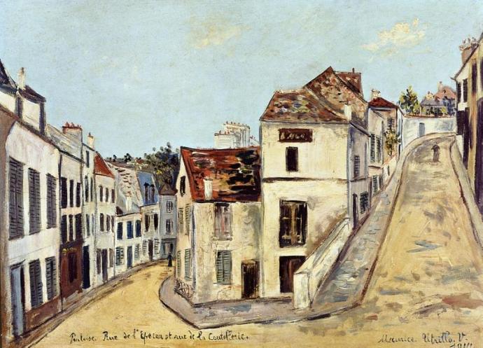 +2366 Maurice Utrillo  Pontoise rue de l'Eperon  et rue de la Coutellerie (1914).jpg