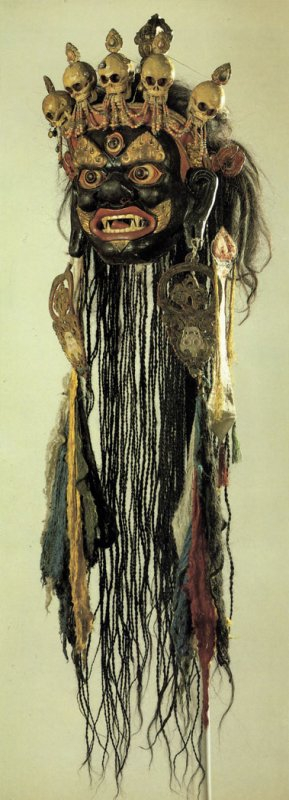719 Mask for the Tsam mystery Mongolia. Second half of the 19th century.jpg