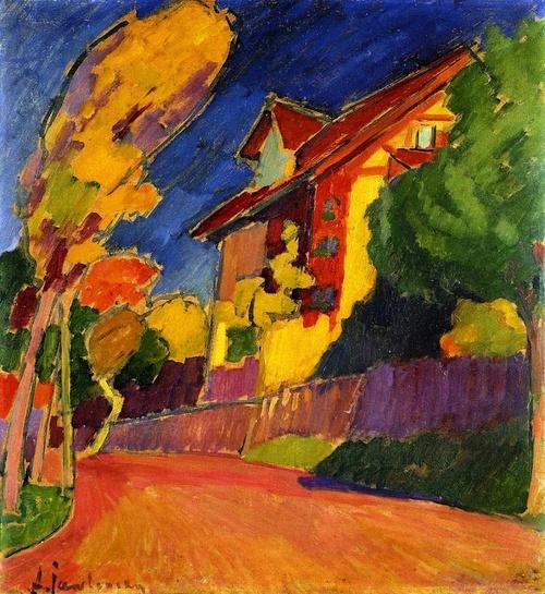 +1543 Alexej von Jawlensky - The Yellow House, 1909.jpg