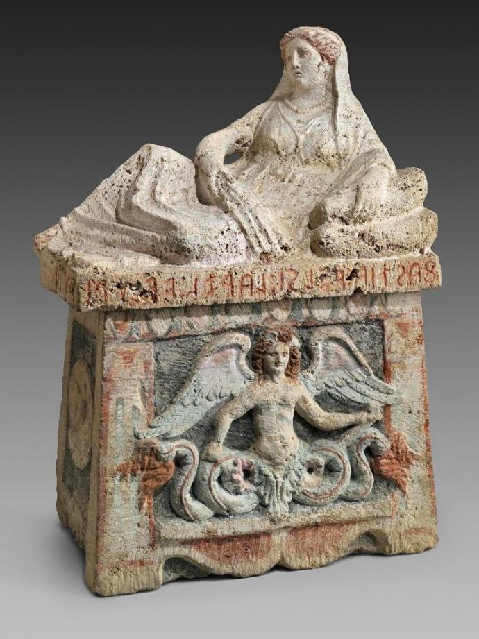 984 Art étrusque  urne funéraire décorée  3rd century BC.jpg