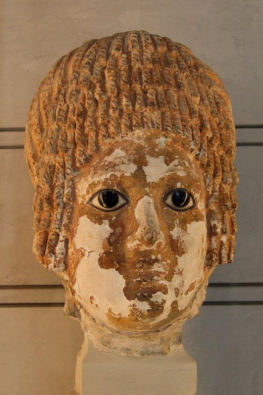 692 art égyptien Masque funéraire Provenance  Héliopolis Epoque romaine, 100-120 après J.-C.,.jpg