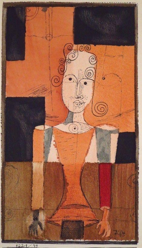 +Paul Klee  Kleines Bildnis mit Schwarzen Vierecken, 1921.jpg